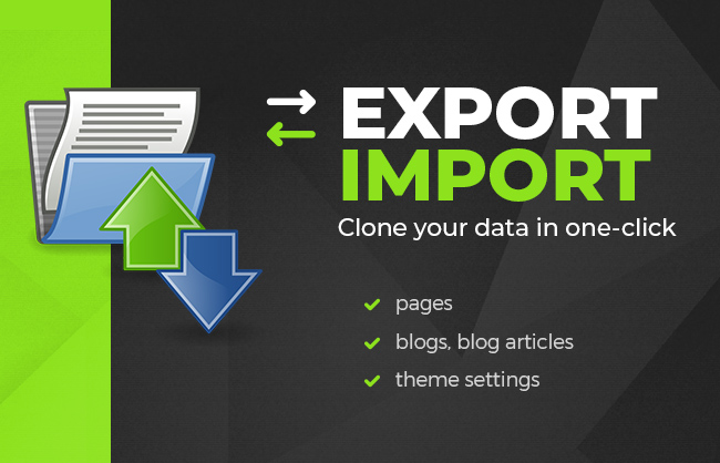 How to export import data at Shopify?