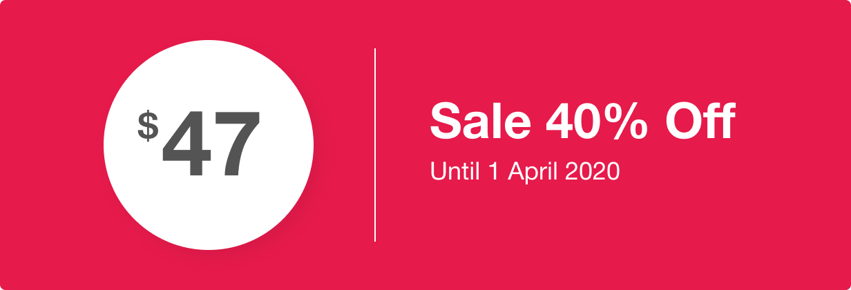 Sale 40% off.  Hurry up! Sale ends at April 1