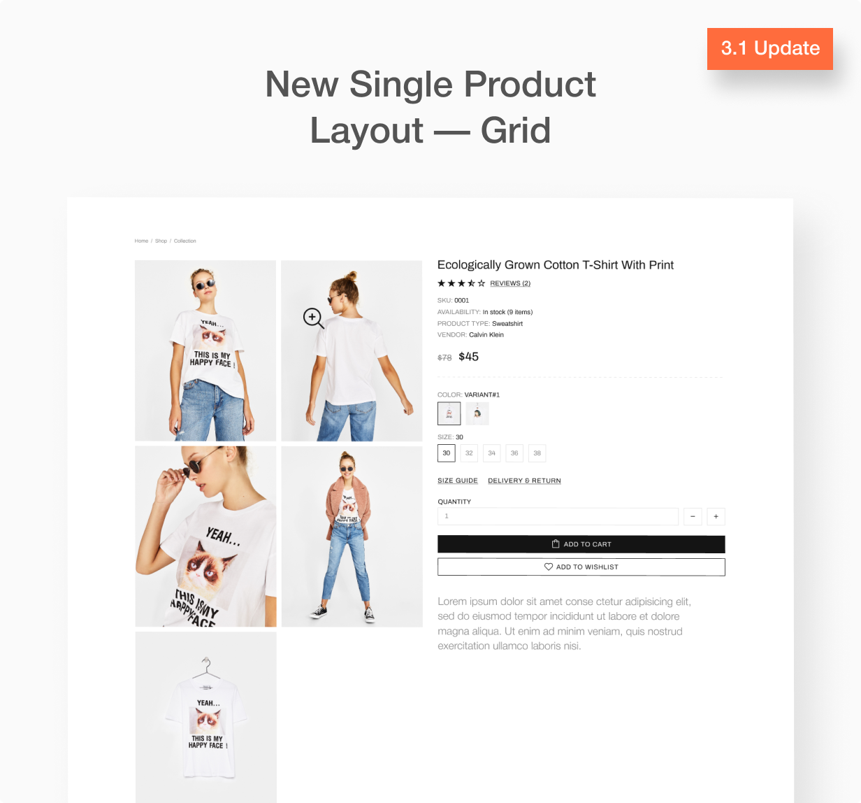 Update 3.1 Product image gallery as a grid