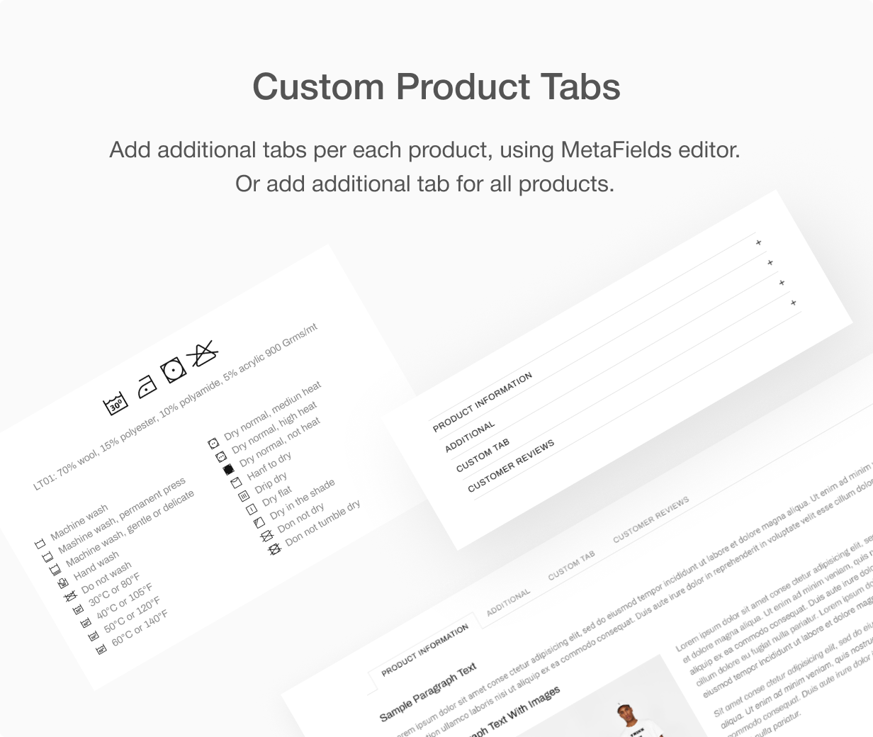 Custom product tabs at Shella Shopify theme